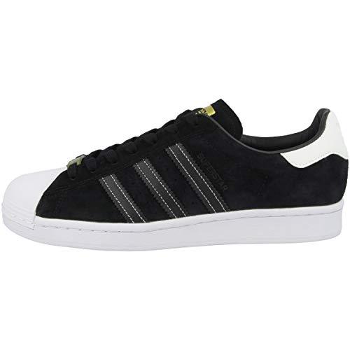 adidas Zapatillas para hombre Low Superstar, color Negro, talla 46 EU