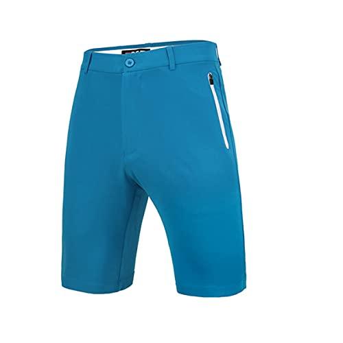 LGQ Herren Stretch Golf Short Sonnenschutz Golf Cargo Shorts Schnelle, trockene, Wasserabweisende, leichte, legere Shorts,Blau,XL