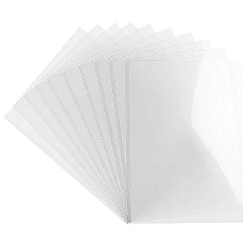 Ideen mit Herz Windradfolie | Transparent-Folie | Mobile-Folie | transparent | 0,2 mm | 10 Stück (Din A4)