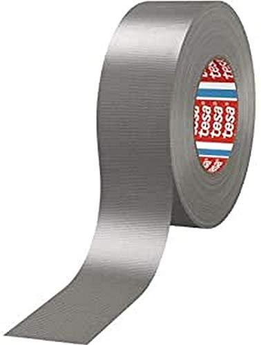 tesa H0468847 Nastro adesivo in tela plastificata 50mm x 25m 4688 Gaffer Tape, Silber