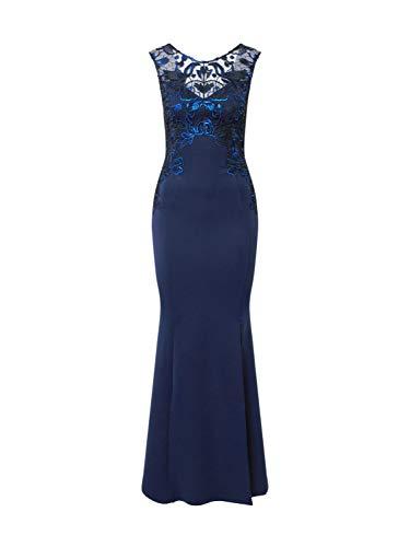 Lipsy Damen Abendkleid FOIL Navy 40