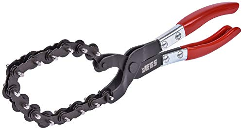 JEGS 81393 Exhaust Pipe Cutter 12 in. Adjustable Chain with 15 Cutting Wheels Cu