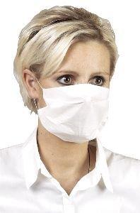 Carta maschera protezione maschera 2 pieghe, di colore bianco, confezione da 100 pezzi