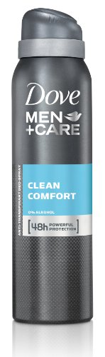 Dove Men+Care Clean Comfort Deospray, 6er-Pack (6 x 150 ml)