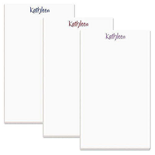 Memo Pad by Current 4 1//4 x 6 3//4 Inches 100-Sheet Pads Office Organizer Primary Colors Personalized Name /& Initial Magnetic Notepads Shopping List To-Do Notes Set of 4