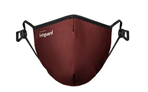 Livinguard – PRO MASK   3-Lagige Gesichtsmaske   Verstellbar, Waschbar, Wiederverwendbar (Cosmic Red, L)