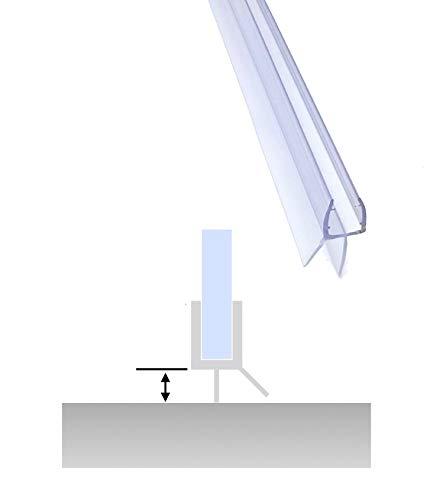 SuperSeals Frameless Shower Door Glass Bottom Sweep (3/16'-1/4' Glass Thickness)
