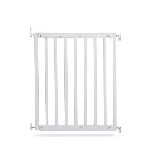 Geuther 2710 WE - Rejilla de seguridad para puertas y escaleras de madera 2710, para atornillar, sin barreras, para aberturas de 63,5 a 105,5 cm, color blanco, 3,81 kg