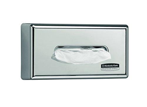 Kimberly-Clark 07820010 7820 Dispensador de Pañuelos de Papel, Montaje en Pared, Para Pañuelos Kleenex y Scott, Diseño y Lujo, Plateado