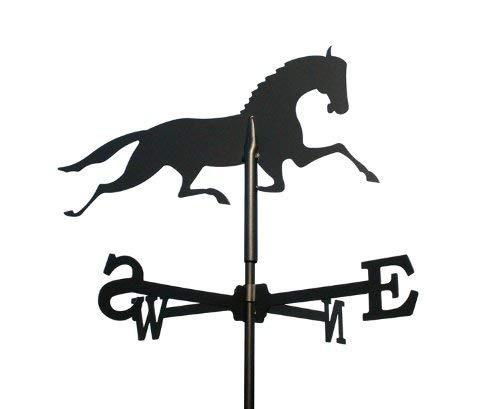 Svenska Wetterfahne Windfahne Windspiel Pferd schwarz aus Stahl klein Höhe 60 cm