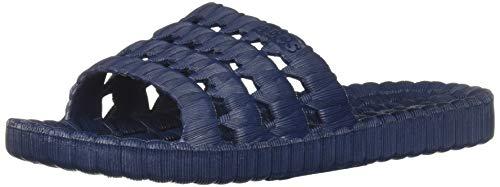 TECS PVC Slide Sandals for Men, Beach Flip Flip & Lightweight Water Shoe with Open Toe, for Showers, House Slipper Dorms & Outdoor Use Navy