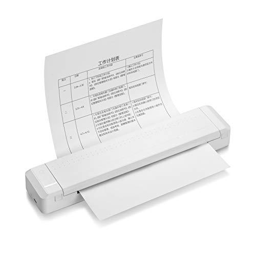 Festnight Stampante per carta A4 Stampante a trasferimento termico diretto Stampante portatile Stampante fotografica portatile Connessione wireless BT 300 dpi con 1 pezzo di nastro per file PDF /