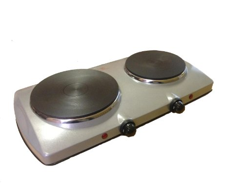 Doppelkochplatte 1500W + 1000W mit stufenlosen Temperaturreglern