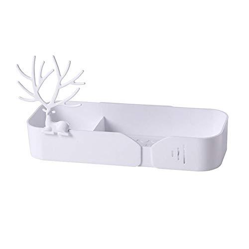 YIXIA Badezimmer-Wandhalterung, Saugnapf-Ablage, Einweg- und perforiertes Trockengestell, geeignet für Badezimmer, Küche und Schlafsaal