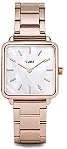 Cluse Reloj analógico para Mujeres de Cuarzo con Correa en Acero Inoxidable CL60027S