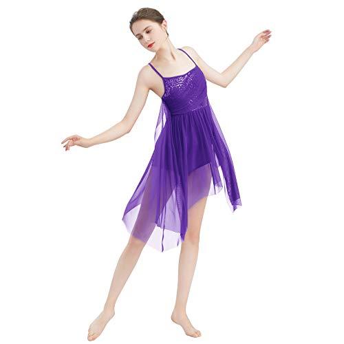 Vestido de baile de ballet para mujer, sin mangas, con
