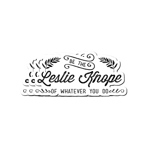 Stickers Pack 3, Vinyl Sticker For Adult Be Kids The Journaling Leslie Teens Knope Laptop Of Bike Whatever You Do For Luggage Guitar Home Decor Skateboard Water Bottle Bumper Car (3pcs/pack)