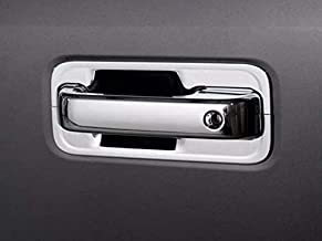 QAA fits 2015-2020 Ford F-150, 2017-2020 Ford F-250 & F-350 Super Duty (6 Piece Chrome Plated ABS Plastic Door Handle Cover Kit, Includes Key) DH55305