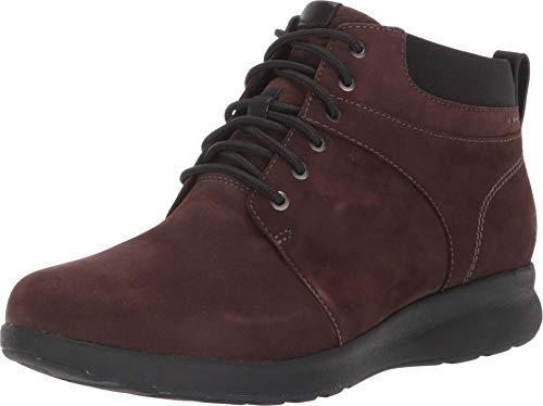 Clarks womens Un Adorn Walk Fashion Boot, Brown Nubuck, 8 US