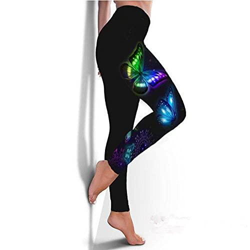 ArcherWlh Pantalones De Yoga,2021 Nueva Mariposa Digital impresión Deportes Yoga Fitness Fitness Delgado Mujeres-5_3XL