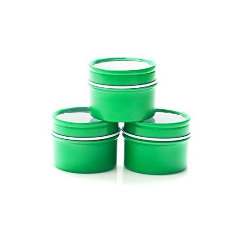 Mimi Pack 24 Pack Tins 1 oz Deep Round Tins with Clear Window Lids Empty Tin Containers Cosmetics Tins Party Favors Tins and Food Storage Containers(Green)