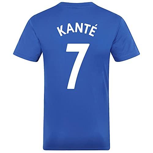 Chelsea FC - Camiseta Oficial de Entrenamiento - para niño - Poliéster - Azul - Kante 7-12-13 años