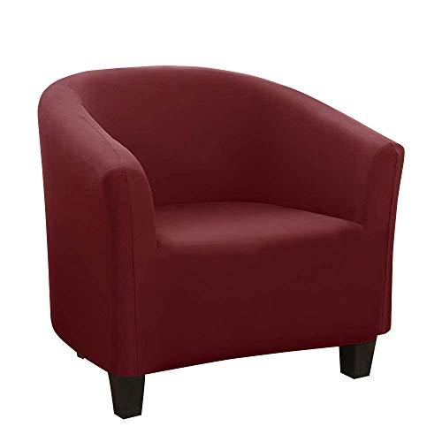 WINS Housse de Fauteuil Cabriolet Chesterfield Extensible Tub Chair Cover Housse Fauteuil Tullsta élastique Couverture de Chaise de Club Cabriolet Vin Rouge