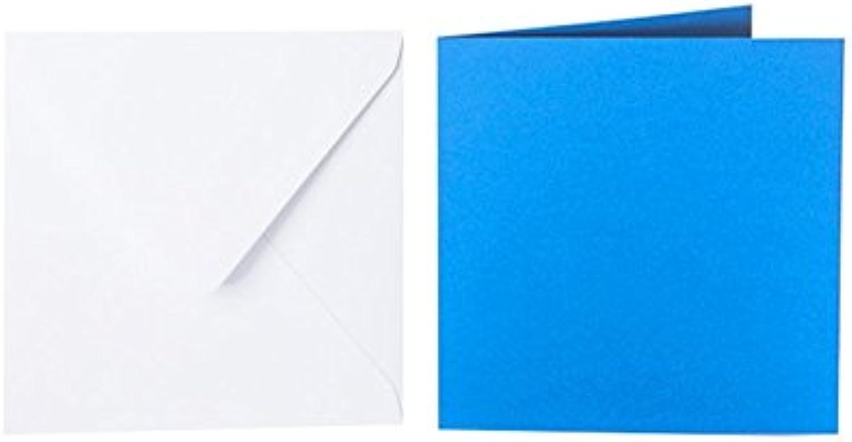 100 100 100 quadratische Briefumschläge 125 x 125 mm Weiß mit Dreieckslasche, 100g  100 Faltkarten 120 x 120 mm, 240g, Farbe  i18 Intensivblau B015PP7A20 | Shop  | Erste Klasse in seiner Klasse  | Vorzüglich  3f875b