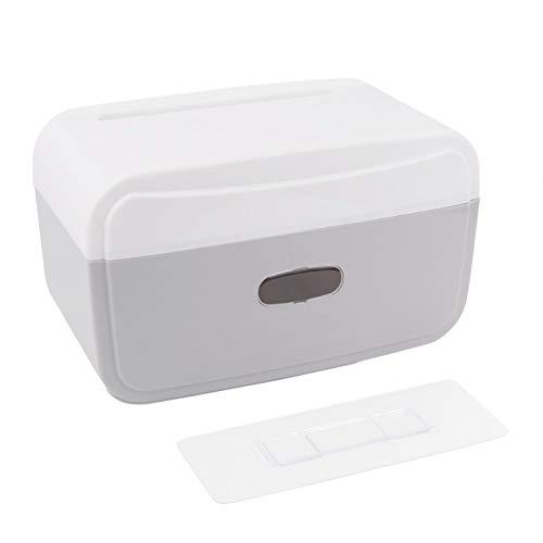 Aigid Caja de Almacenamiento de escombros de baño, Multifuncional sin Clavos para Colgar en la Pared, Estante Impermeable, Caja de pañuelos, Bolsa de Basura
