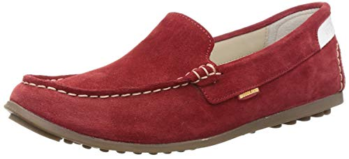 Woodland Women's Lb 2525117red8 Red Leather Moccasins-8 UK (41 EU) (9 US) 2525117