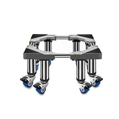 Mobil apparatbas Kraftig tvättmaskin Sockel Justerbar längd/bredd 45-65 cm Under disk Ismaskin Vinkylare Vagnställ för fat, växtbehållare