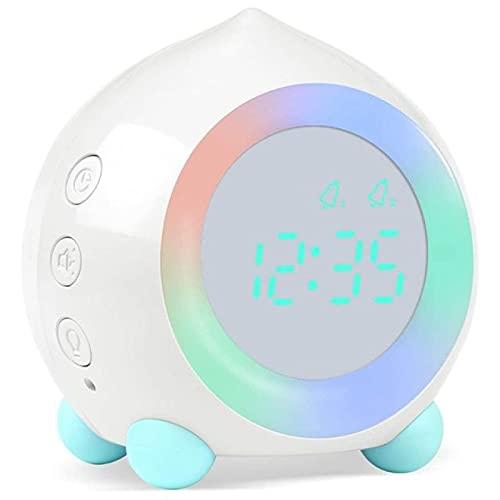 Aiong Reloj Despertador, Reloj Despertador Digital para niños, simulador de Amanecer con lámpara de luz Nocturna LED para Dormitorio de niños y niñas