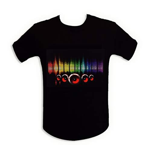 Camiseta de la luz brillante LED de altavoces de sonido ecualizador XL
