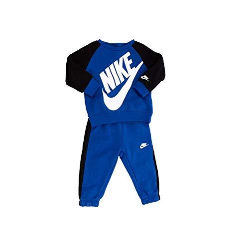 Nike - Tuta Oversized Futura Neonato Felpa e Pantaloni Bimbo 66F653 U89 Blu - 18 Mesi, Blu