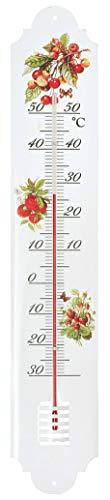 Verdemax 4461 500 x 90 mm en métal Thermomètre avec Fruits Fantasy
