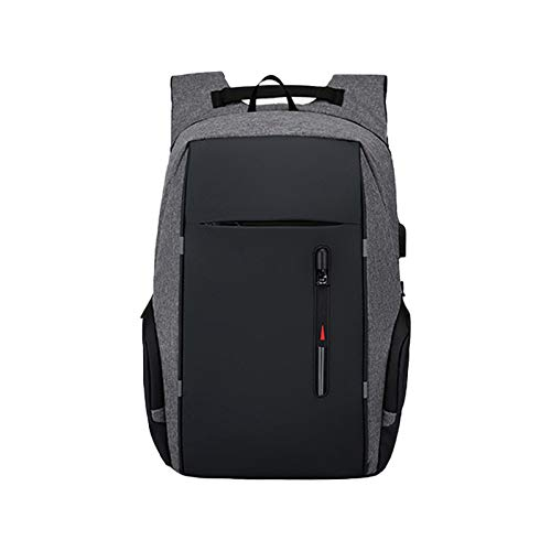 Laptop Backpack, Anti-Theft Business Travel Work Computer Rucksack with USB Charging Port, 15.6 Inch Large Lightweight College High School Bag for Men (Color : Grey)