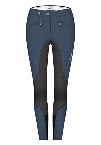 Cavallo Reithose CAJA Grip S Winter Softshell Light | Farbe: darkblue-Graphite | Größe: 44