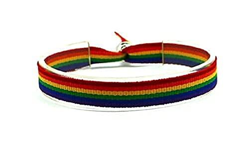 Pulsera colores Orgullo Gay LGTB Flag Bracelet 10 X 300 MM Pulsera Bandera LGBT...
