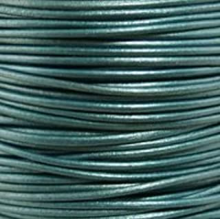 10.93 yds x 10 m 1//64 #424 Natural Grey Round Leather Cord 0.5mm