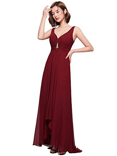 Ever-Pretty Womens Long Semi Formal Wedding Guest Dress 10 US Burgundy