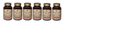 SOLGAR-OLIGO MAG PLUS 6 CONFEZIONI DA 100 TAVOLETTE-stanchezza,affaticamento ,sistema nervoso
