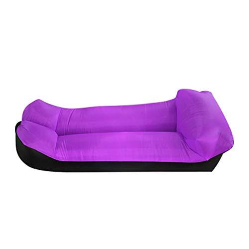 DWHJ Aufblasbare Lehnstuhl, bewegliche Sofa Kann Folding Schnelle Aerated, Geeignet für Außen Sandy Beach Courtyard Lawn Erholung,Lila