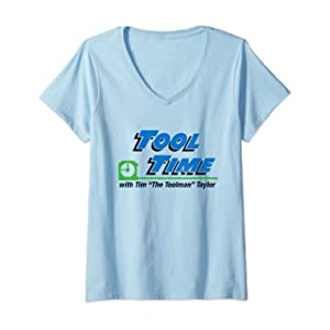 Womens Home Improvement Tool Time with Tim V-Neck T-Shirt