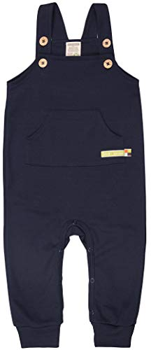 loud + proud Baby-Unisex Bio Baumwolle, GOTS Zertifiziert Latzhose, Blau (Navy Ny), (Herstellergröße: 86/92)