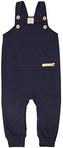 loud + proud Latzhose aus Bio Baumwolle, Gots Zertifiziert Pantalones de Peto, Azul (Navy NY), 62/68 para Bebés