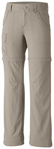 Columbia Girl's Silver Ridge III Convertible Pant (Youth), Fossil, Medium