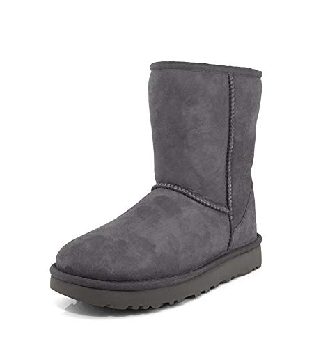 UGG Women's Classic Short II Winter Boot, Grey, 9 B US