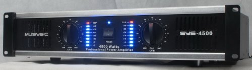 2 Channel 4500 Watts Professional DJ PA Power Amplifier 2U Rack mount SYS-4500 MUSYSIC