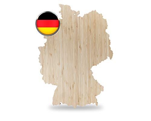 *NEU* Bambus Schneidebrett in Deutschland Form 40cm x 30cm x 2cm, Geeignet als Küchenbrett Servierbrett Brotzeitbrett, das ideale kleine Geschenk