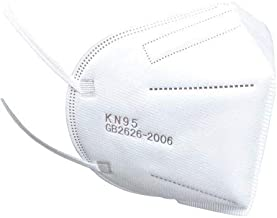 Máscara Descartável Proteção Kn95 5 Camadas com Elástico Branca-SOS Mascaras - FBA (25)